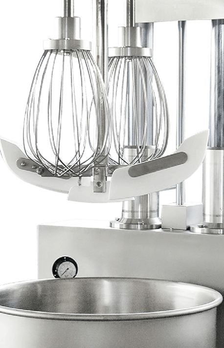 Cooking Mixer Heated By Steam